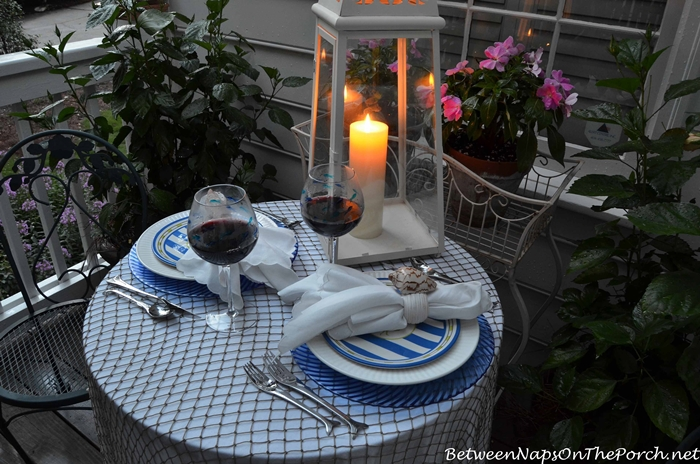 Nautical Tablescape by Candlelight 3