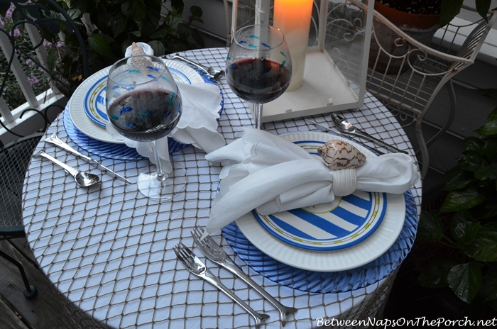 Nautical Tablescape by Candlelight 5