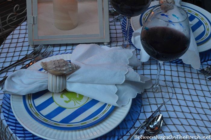 Nautical Tablescape by Candlelight 6