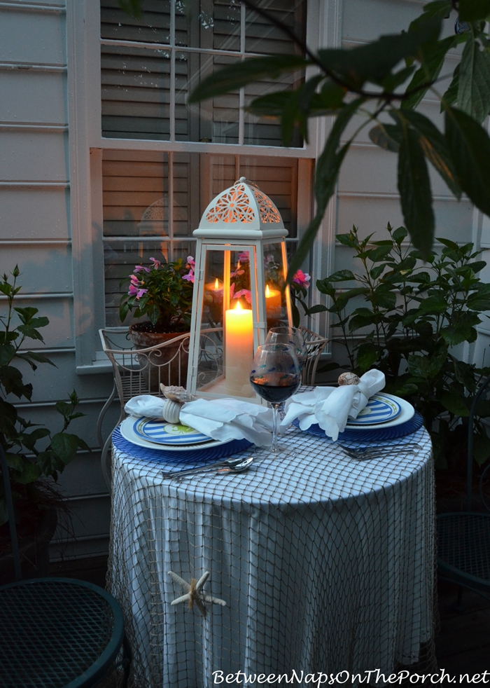 Nautical Tablescape by Candlelight 8