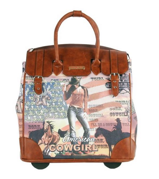 Nicole Lee Cowgirl Rolling Carry-on Bag