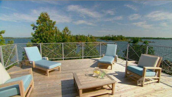 Sarah Richardson's Roof Deck Off Master Summer Island Cottage