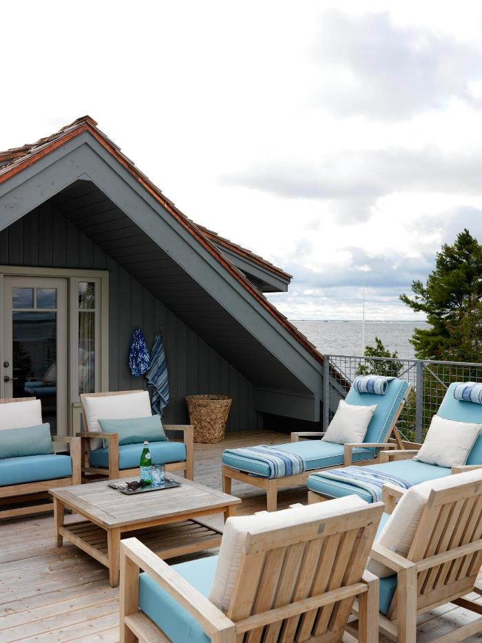 Sarah Richardson's Summer House Uppder Deck with Ocean Views