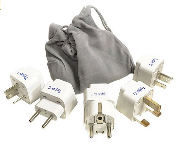 Set of Adapters for Worldwide Travel