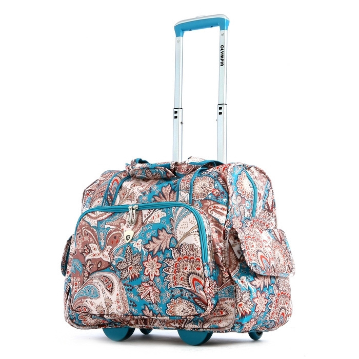Stylish Rolling Carry On Laptop Bag by Olympia for Travel