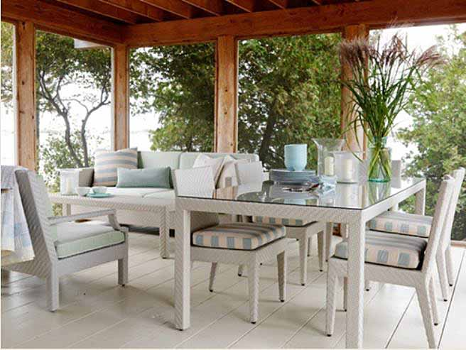 White Wicker Furniture for Sarah Richardson's Porch