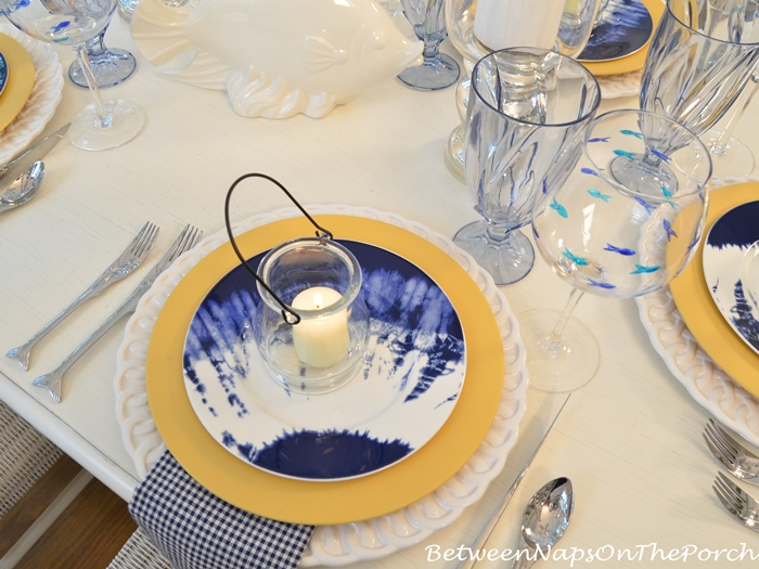 Beach Table Setting with Noritake Indigo Beach