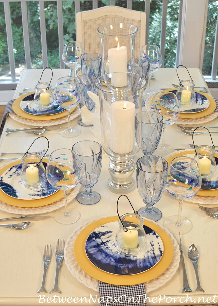 Beachy Table with Noritake Indigo Beach