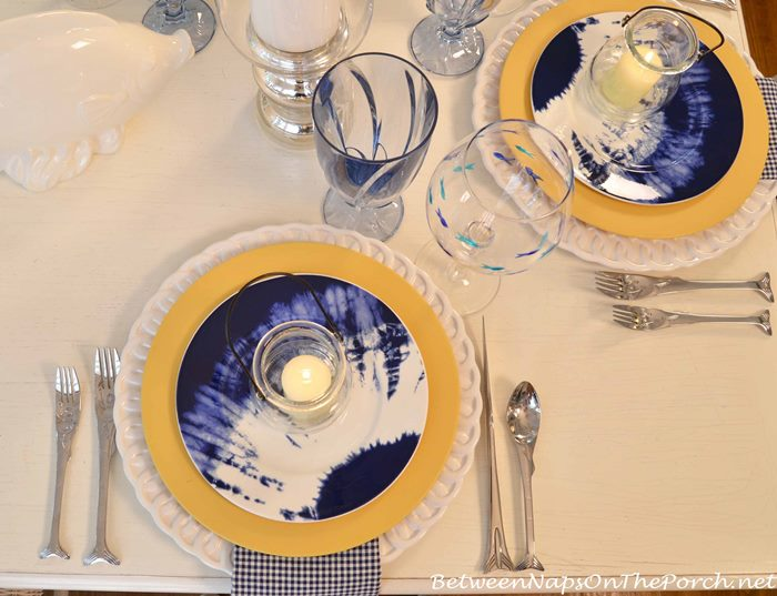 Beachy Tablescape with Noritake Indigo Beach