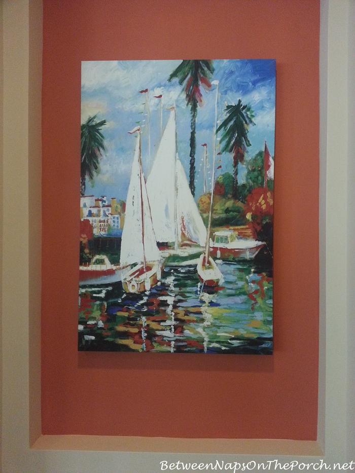 Beautiful Nautical Sailing Painting