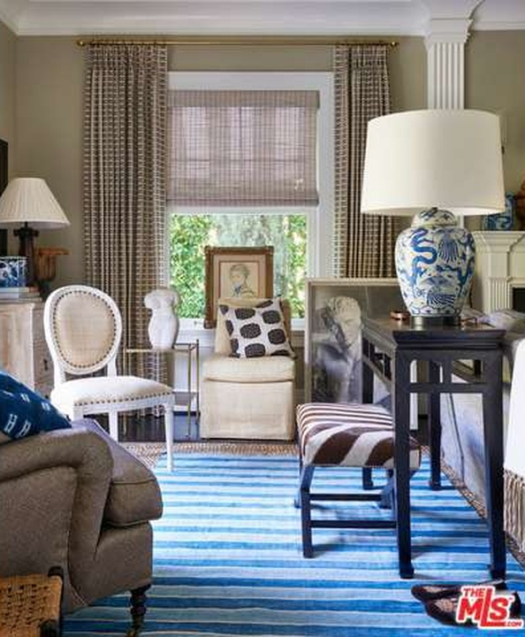 Blue & White Stripped Rug