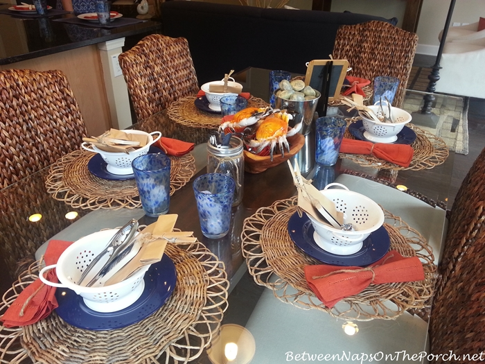 Crab Seafood Tablescape