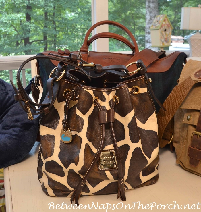 Dooney & Bourke Safari Giraffe Print Bucket Bag