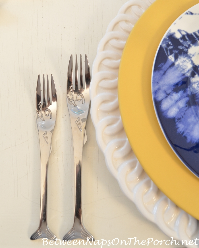 Fish Flatware for a Beach Themed Table Setting