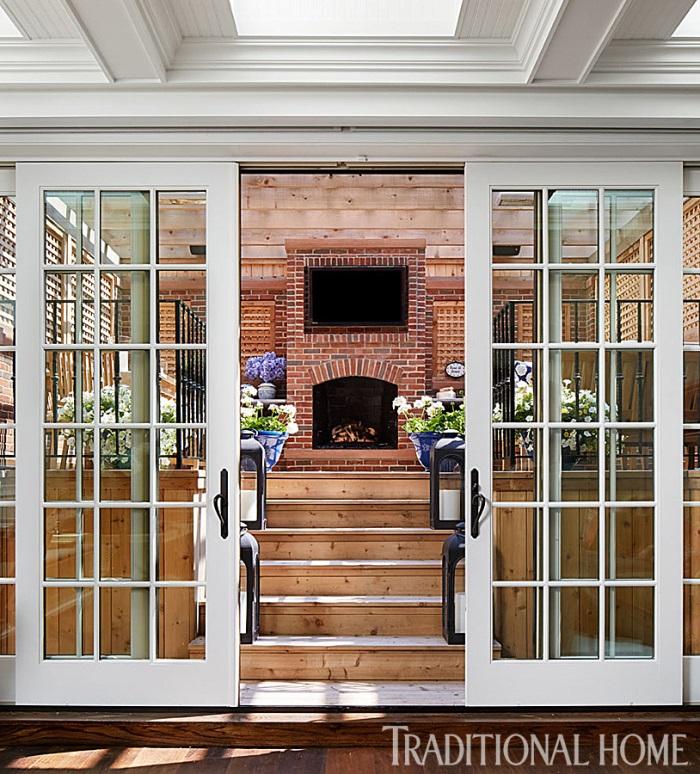 Giuliana & Bill Ranci's Deck Oudoor Room in Chicago