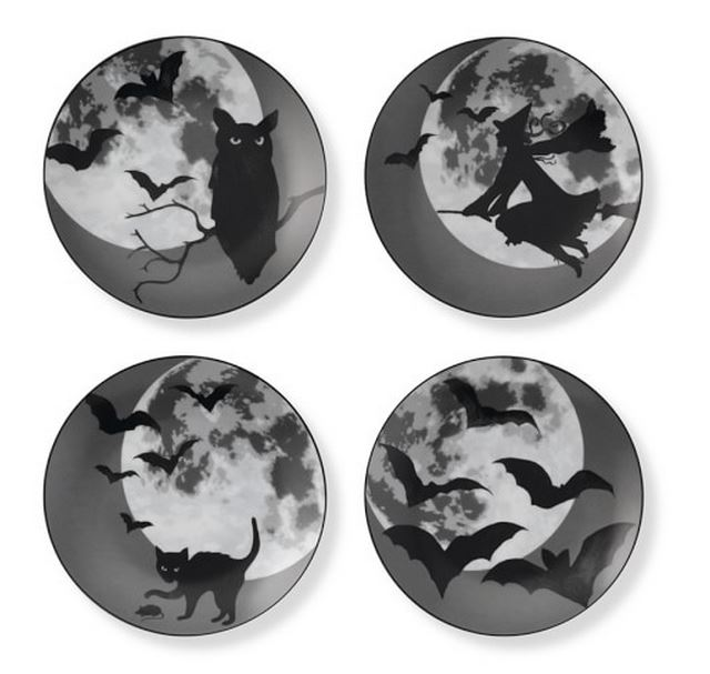 Halloween Moon Plates, Williams Sonoma