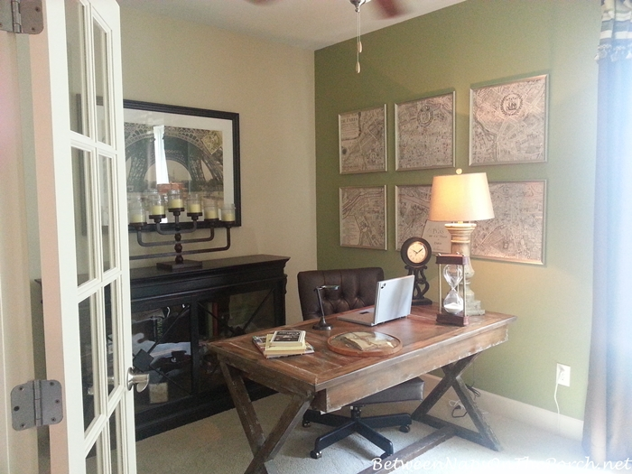 Home Office With Trestle Desk