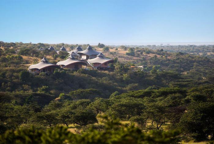 Mahali Mzuri Tents Along Ridge Overlooking the Olare Motorogi Conservancy