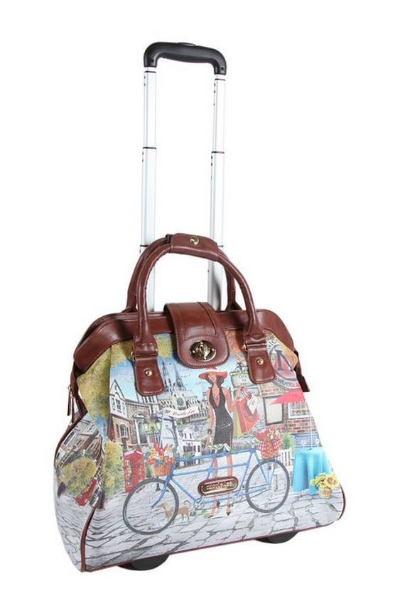 Nicole Lee Rolling Carry-on Bag, Bicycle Design