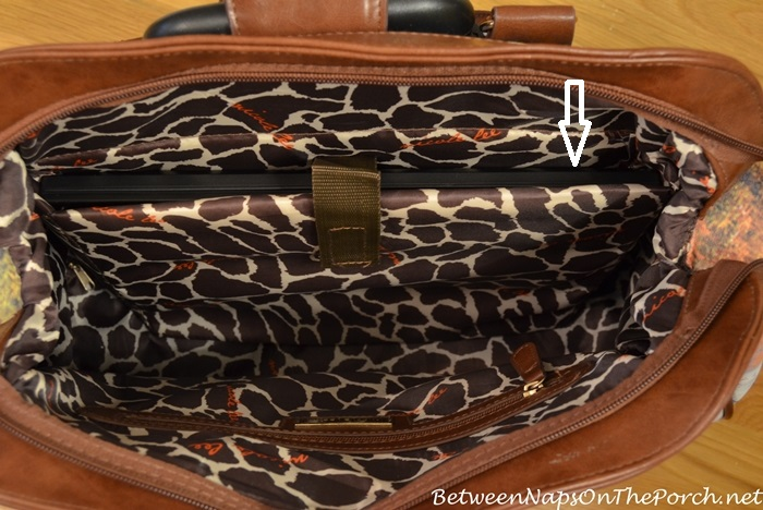 Nicole Lee Rolling Travel Bag with Giraffe Print Interior