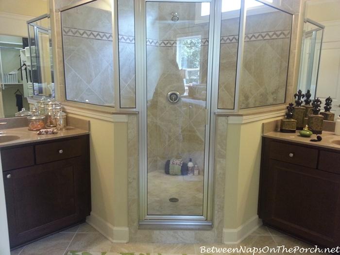 Oval Angle Shower