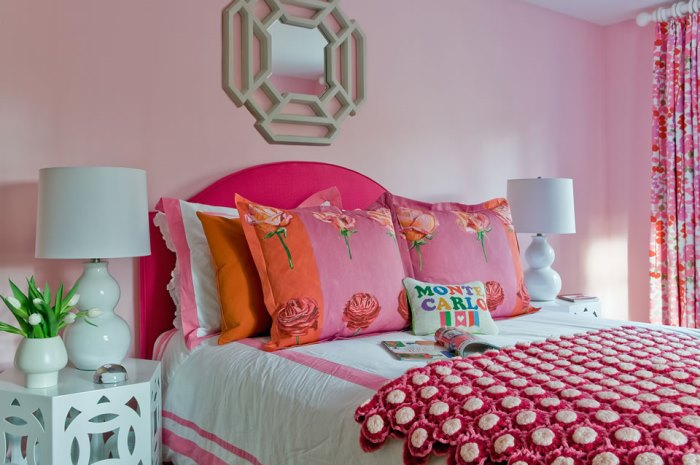 Pink Floral Bedroom Makeover