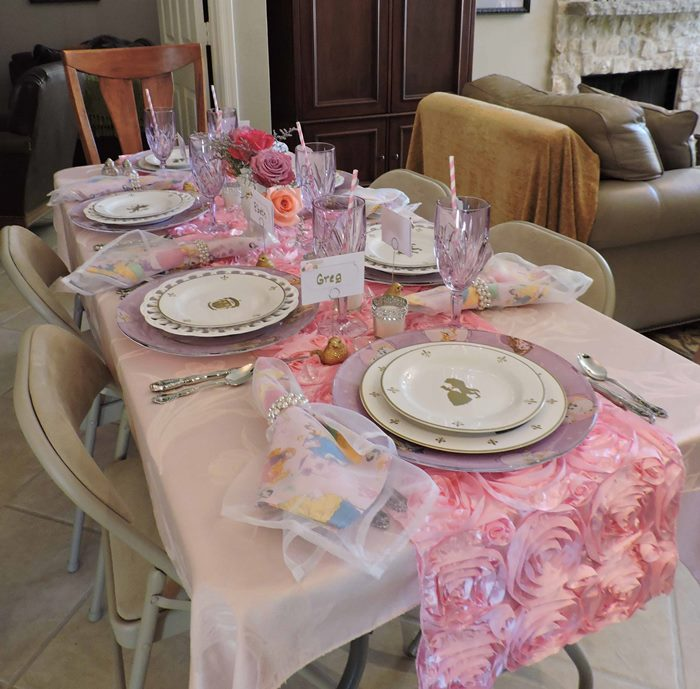Princess Themed Baby Shower Table With Royal Albert Old Country Roses