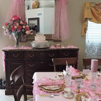 Pretty in Pink: A Princess Themed Baby Shower Tablescape