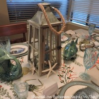 A Beach-Themed Sea Life Table Setting