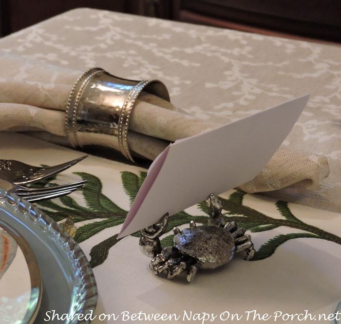 Sea Life Tablescape With Pottery Barn Playa Plates and Table Runner 12
