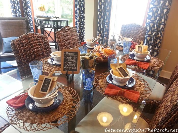 Seafood Table Setting