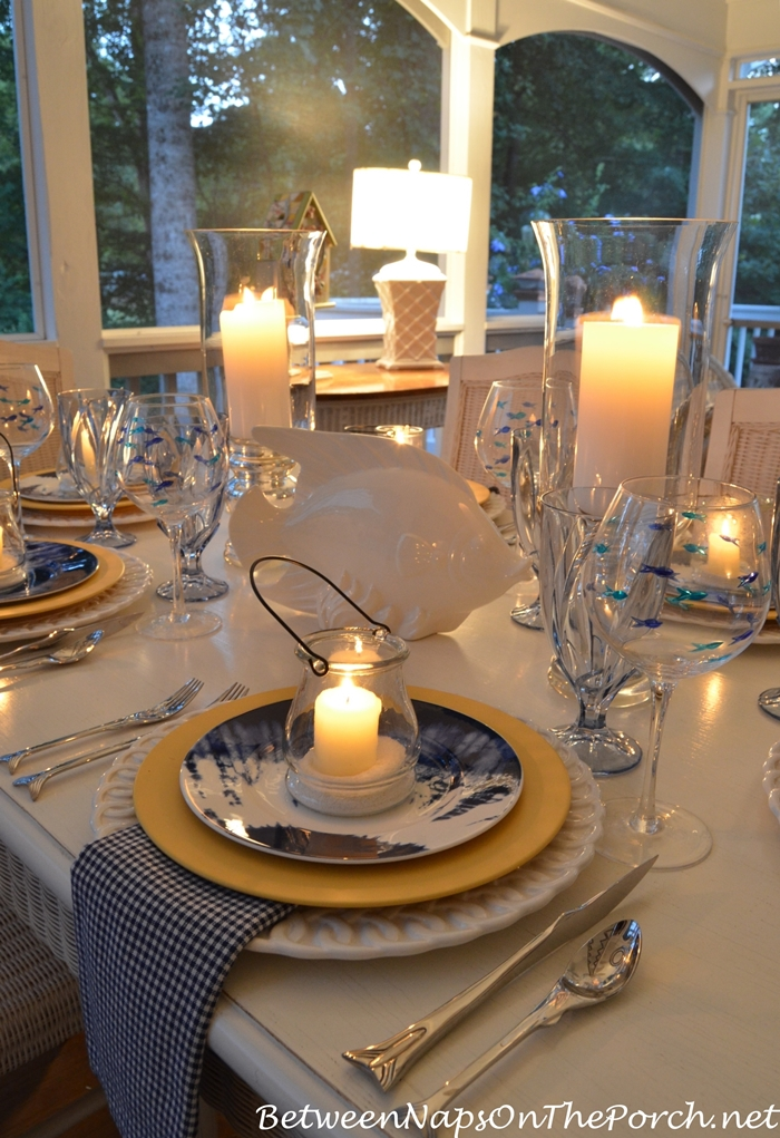 Seaside Inspired Tablescape