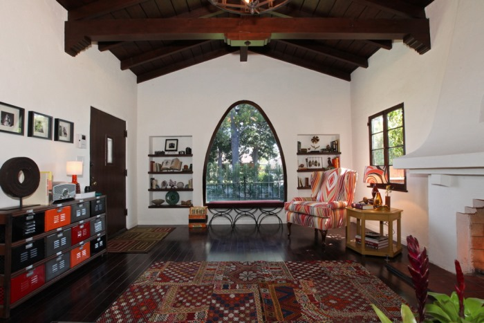 Spanish Bungalow Living Room After Makeover