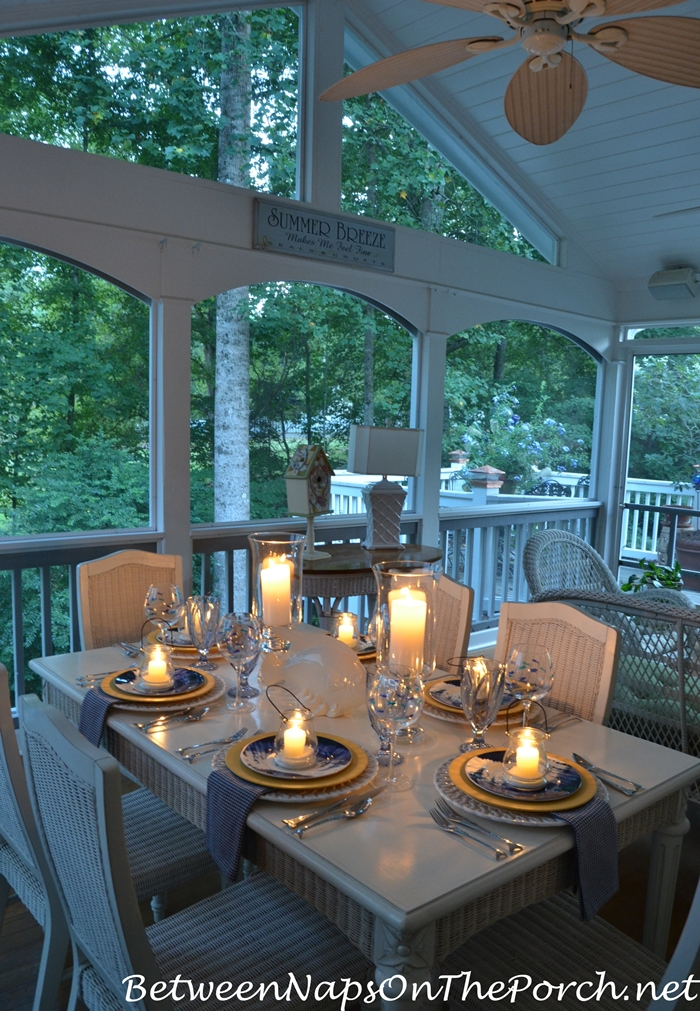 Summer Table Setting by Candlelight 1