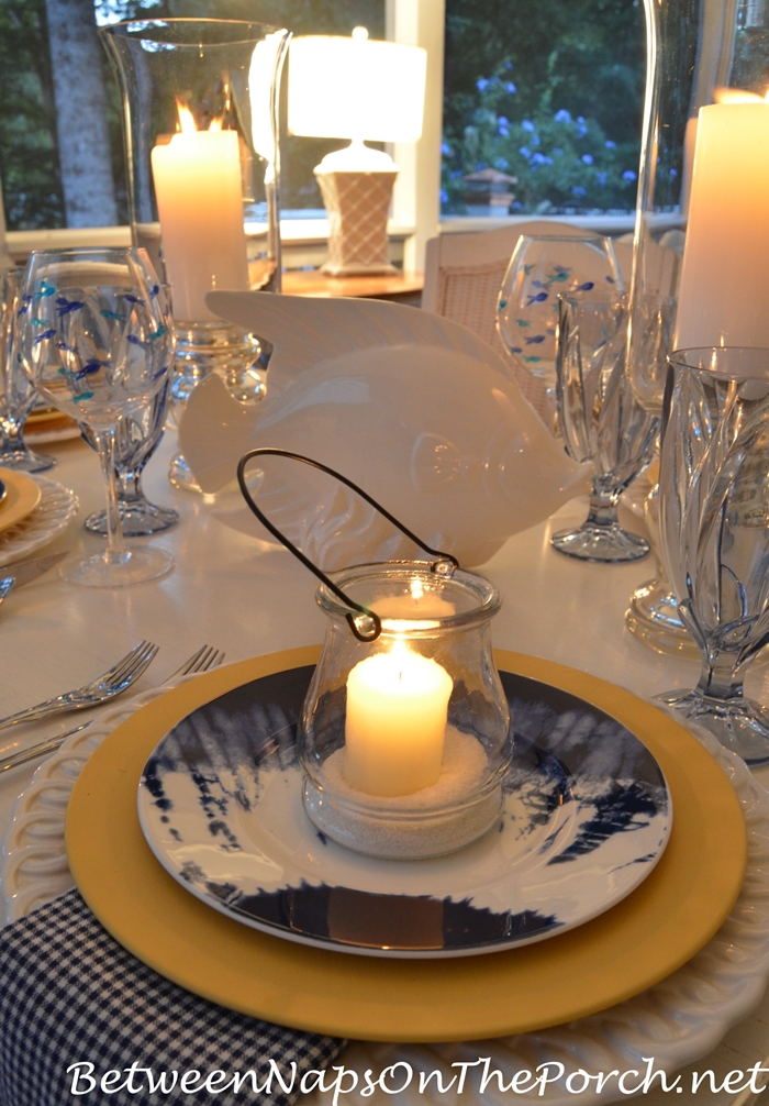 Summer Table Setting by Candlelight 4