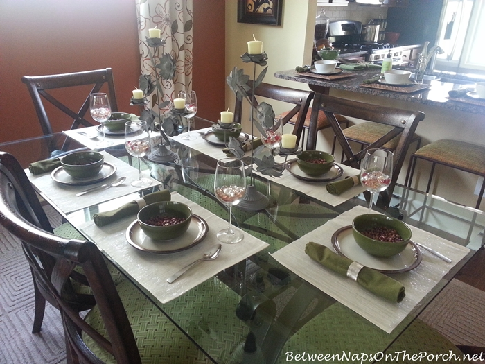 Tablescape in Green