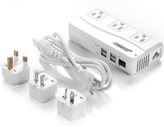 Travel Adapter & Power Converter for 220V to 110V Voltage