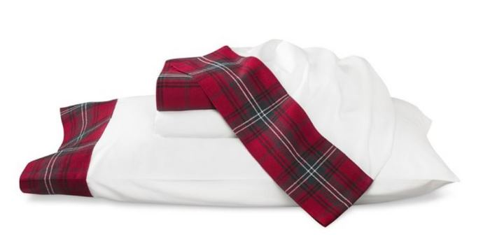 Williams Sonoma Red Tartan Bedding