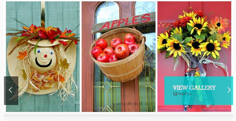 Inspiration for fall decorating for M m door decorations