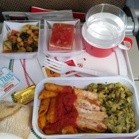 In-Air Table Settings, Compliments of Air France and Kenya Air