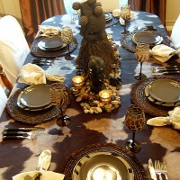 A Birthday Celebration With A Safari-Themed Table Setting