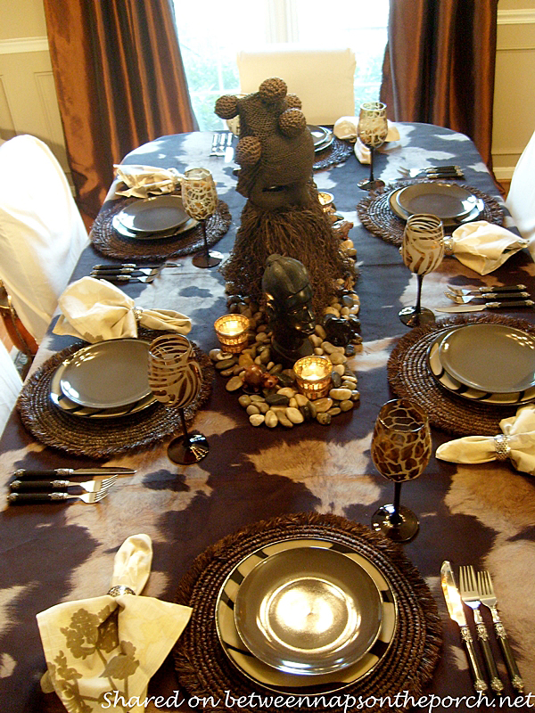 A Birthday Celebration With Safari Themed Table Setting