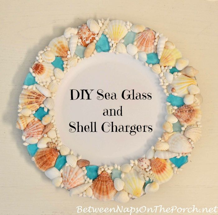DIY Sea Glass and Shell Charger for Nautical Table Settings