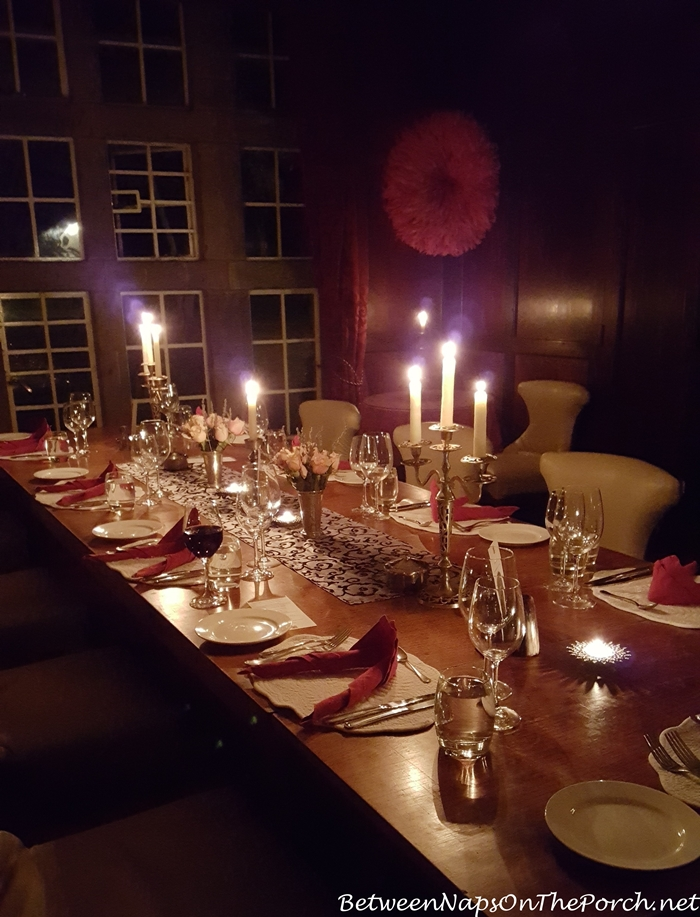 Dining Room Lit by Candlelight, Giraffe Manor
