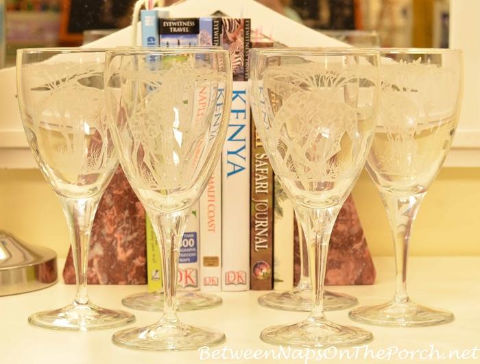 Giraffe Wine Glasses