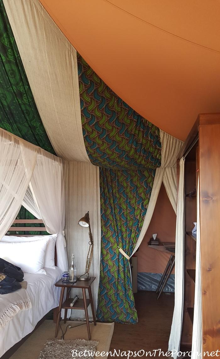 Inside a Tent at Mahali Mzuri