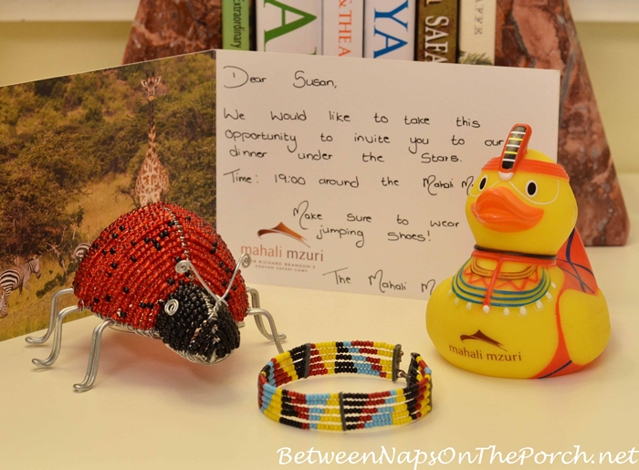 Mahali Mzuri Beaded Bracelet, Masai Duck and Beaded Lady Bug