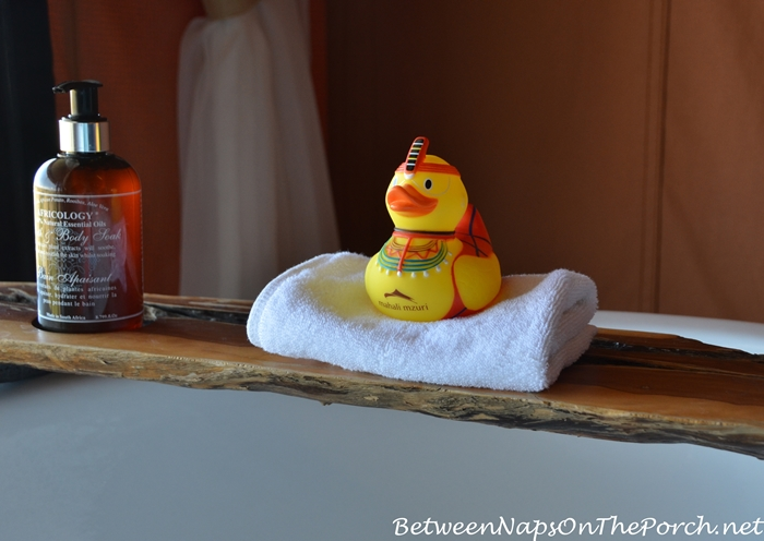 Mahali Mzuri Rubber Ducky Dressed in Masai Dress