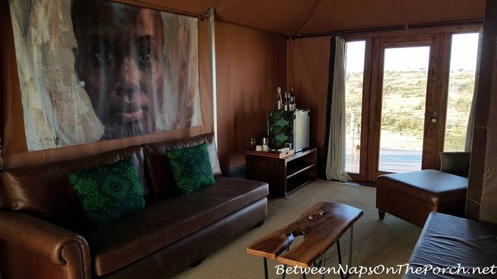 Mahali Mzuri Tent Living Room