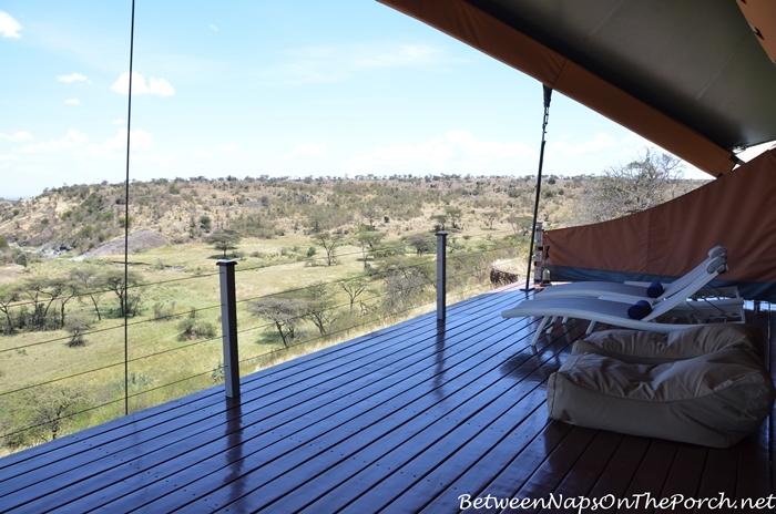 Mahali Mzuri Tent with a Large Deck for Lounging